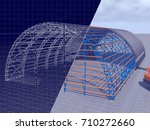 3d rendering and blueprint. the ... | Shutterstock . vector #710272660