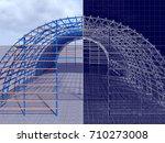 3d rendering and blueprint. the ... | Shutterstock . vector #710273008