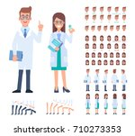front  side  back view animated ... | Shutterstock .eps vector #710273353