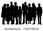 silhouette of big family | Shutterstock .eps vector #710276014