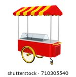 food cart isolated. 3d rendering   Shutterstock . vector #710305540