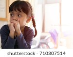 the little asian girl with... | Shutterstock . vector #710307514