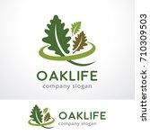 oak life logo template design...   Shutterstock .eps vector #710309503