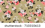 seamless floral pattern in... | Shutterstock .eps vector #710310613
