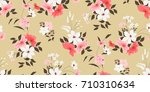 seamless floral pattern in... | Shutterstock .eps vector #710310634