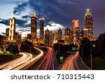 Downtown Atlanta And Blurred...