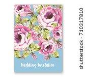 wedding invitation card... | Shutterstock .eps vector #710317810