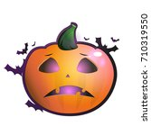 pumpkins for halloween. vector. | Shutterstock .eps vector #710319550