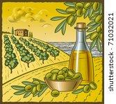 Olive Harvest. Vector