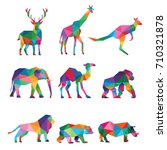 zoo animal low poly logo icon... | Shutterstock .eps vector #710321878