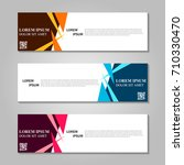 vector abstract design banner... | Shutterstock .eps vector #710330470