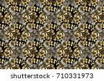 paisleys elegant floral raster... | Shutterstock . vector #710331973
