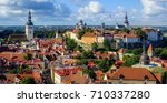 tallinn old town on toompea... | Shutterstock . vector #710337280
