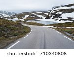 bjorgavegen   mountain road...   Shutterstock . vector #710340808