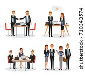 teamwork business people at... | Shutterstock .eps vector #710343574