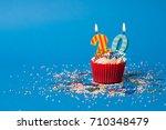 20th birthday cupcake landscape | Shutterstock . vector #710348479