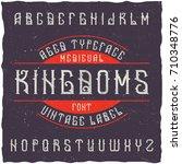 original aged typeface named ...   Shutterstock .eps vector #710348776