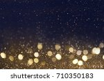 holiday background with bokeh | Shutterstock . vector #710350183