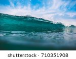 shorebreak ocean wave in... | Shutterstock . vector #710351908