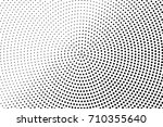 black and white dotted halftone ... | Shutterstock .eps vector #710355640