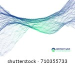 vector abstract futuristic... | Shutterstock .eps vector #710355733