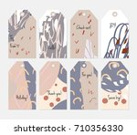 hand drawn creative tags.... | Shutterstock .eps vector #710356330