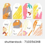 hand drawn creative tags.... | Shutterstock .eps vector #710356348