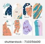 hand drawn creative tags.... | Shutterstock .eps vector #710356600