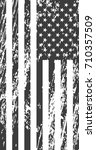 grunge american flag. vintage... | Shutterstock .eps vector #710357509