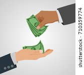 business concept giving money.... | Shutterstock .eps vector #710359774