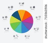 infographics template 9 options ... | Shutterstock .eps vector #710363506