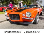 GRANTOWN ON SPEY, SCOTLAND - September 3 2017: Classic Chevrolet Camaro Z28 at a Vintage Rally - stock photo