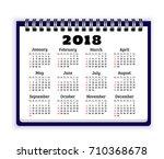 notebook paper with calendar... | Shutterstock .eps vector #710368678