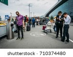 moscow  domodedovo  russia  ... | Shutterstock . vector #710374480