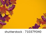 autumn floral paper background... | Shutterstock .eps vector #710379340