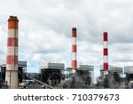 mae moh coal power plant in... | Shutterstock . vector #710379673