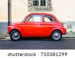 pisa  italy   october 2  retro... | Shutterstock . vector #710381299