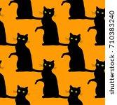 traditional halloween seamless...   Shutterstock .eps vector #710383240