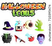 colored illustration. halloween ... | Shutterstock .eps vector #710395474