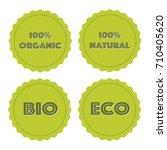 vector illustration  stickers... | Shutterstock .eps vector #710405620