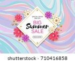 summer sale background layout... | Shutterstock . vector #710416858