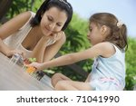 portrait of happy mother with... | Shutterstock . vector #71041990