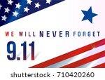 patriot day. september 11. we... | Shutterstock .eps vector #710420260