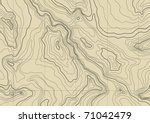 abstract topographic map in... | Shutterstock .eps vector #71042479