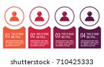 colorful infographic in four... | Shutterstock .eps vector #710425333