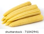 Young Small Corn Closeup View