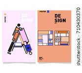 vector covers design set with... | Shutterstock .eps vector #710430370