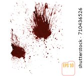 a blood splatter graphic on... | Shutterstock .eps vector #710436526