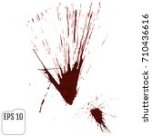 a blood splatter graphic on... | Shutterstock .eps vector #710436616