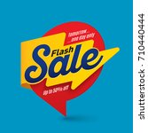flash sale banner template ... | Shutterstock .eps vector #710440444